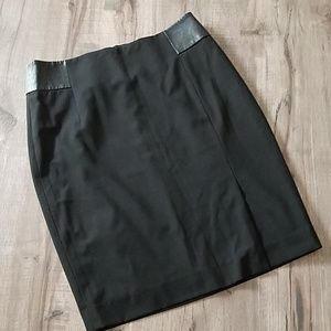 Limited black pencil skirt